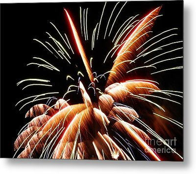 Metal Print featuring the digital art 2012 Fireworks By Aclay by Angelia Hodges Clay