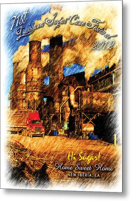 2012 Louisiana Sugarcane Festival Poster Metal Print by Ronald Olivier