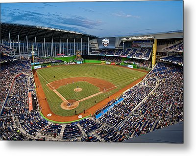 2012 Marlins Park Metal Print by Mark Whitt