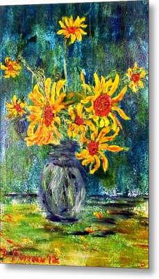 2012 Sunflowers 4 Metal Print by Denny Morreale