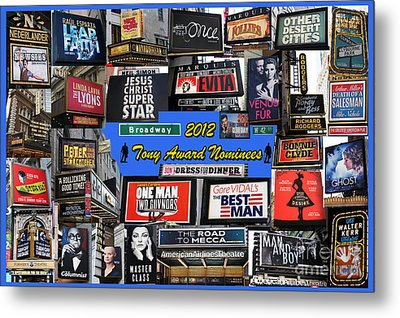 2012 Tony Award Nominees Collage Metal Print