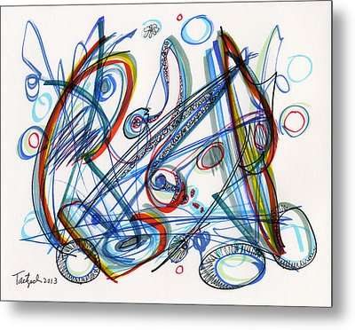 2013 Abstract Drawing #12 Metal Print by Lynne Taetzsch