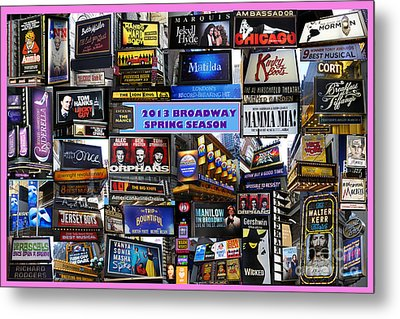 2013 Broadway Spring Collage Metal Print by Steven Spak