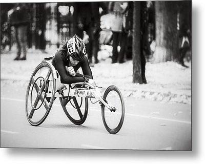 2013 Nyc Marathon Wheelchair Division Metal Print