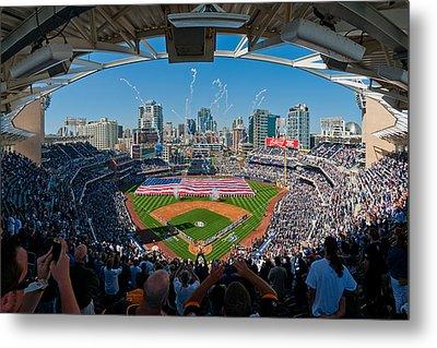 2013 San Diego Padres Home Opener Metal Print by Mark Whitt