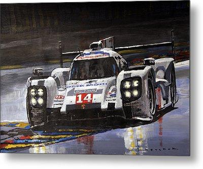 2014 Le Mans 24 Porsche 919 Hybrid  Metal Print by Yuriy Shevchuk