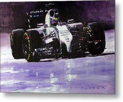 2014 Williams F1 Team Fw 36 Felipe Massa  Metal Print by Yuriy Shevchuk