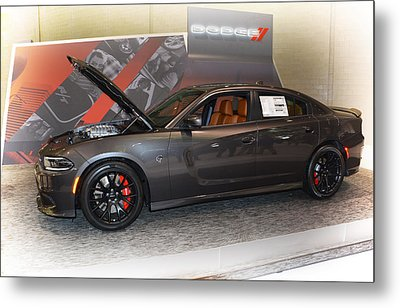 2015 Dodge Charger Srt Hellcat Metal Print by Mike Martin