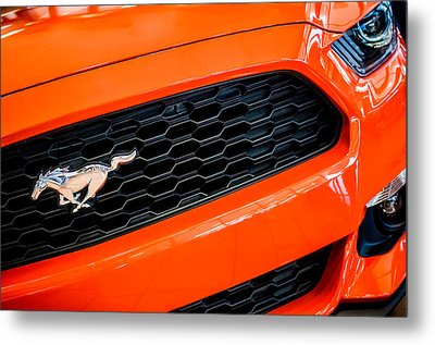 2015 Ford Mustang Prototype Grille Emblem -0092c Metal Print by Jill Reger
