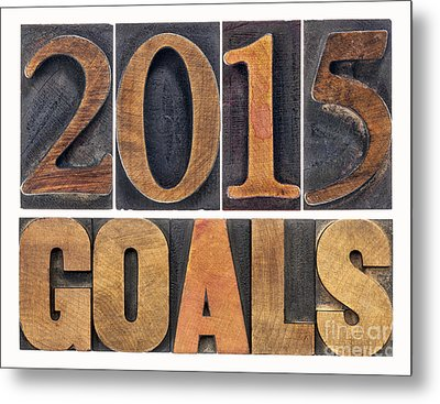 Metal Print featuring the photograph 2015 Goals  by Marek Uliasz
