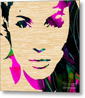 Angelina Jolie Collection Metal Print by Marvin Blaine