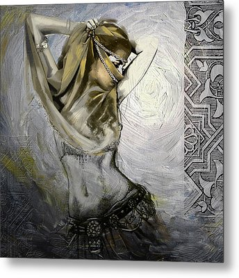 Abstract Belly Dancer 3a Metal Print by Corporate Art Task Force