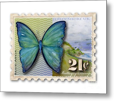 21 Cent Butterfly Stamp Metal Print by Amy Kirkpatrick