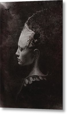 Secret Metal Print by Victor Slepushkin