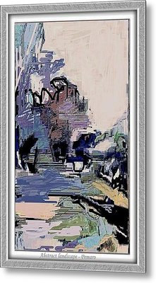 Metal Print featuring the painting Abstract Landscape by Pemaro