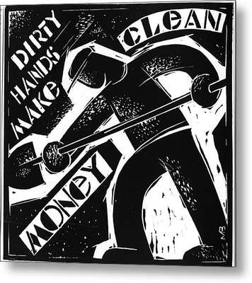 Metal Print featuring the drawing American  Proverbs by Mikhail Zarovny