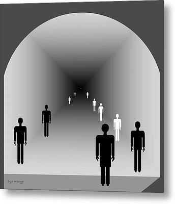 220 - The Light At The End Of The Tunnel 2 Metal Print by Irmgard Schoendorf Welch