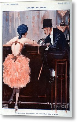 La Vie Parisienne  1920 1920s France Metal Print by The Advertising Archives