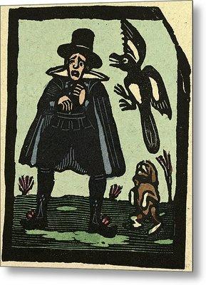 Illustration Of English Tales Folk Tales And Ballads Metal Print