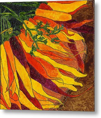 24 Carrots Gold Metal Print
