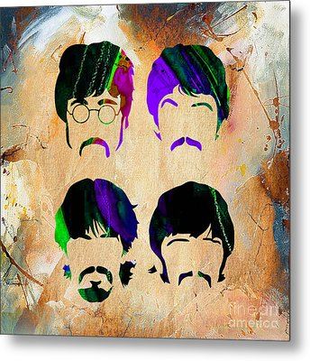 The Beatles Collection Metal Print