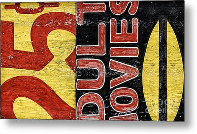 25 Cents Abstract Metal Print by Terry Rowe