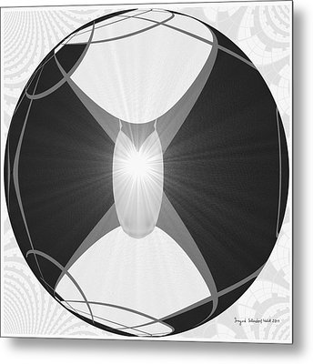250 - The Center   Metal Print by Irmgard Schoendorf Welch