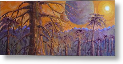 Metal Print featuring the painting Cosmic Light Series by Len Sodenkamp
