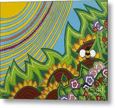 Sunflowers Metal Print by Rojax Art