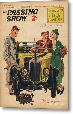 1930s,uk,passing Show,magazine Cover Metal Print by The Advertising Archives