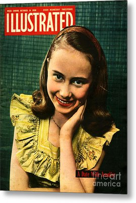 1950s Uk Illustrated Magazine Cover Metal Print by The Advertising Archives