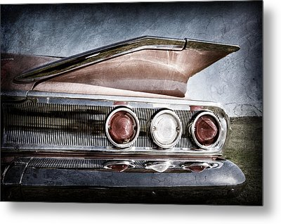 1960 Chevrolet Impala Resto Rod Taillight Metal Print by Jill Reger