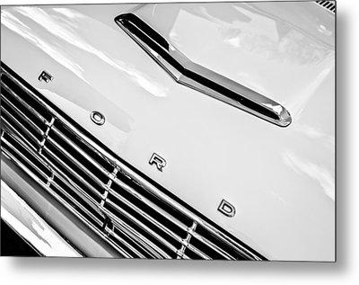 1963 Ford Falcon Futura Convertible Hood Emblem Metal Print by Jill Reger