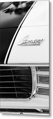 1969 Chevrolet Camaro Rs-ss Indy Pace Car Replica Hood Emblem Metal Print by Jill Reger