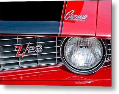 1969 Chevrolet Camaro Z 28 Grille Emblem Metal Print by Jill Reger