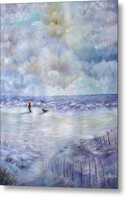 34th St. Beach Metal Print