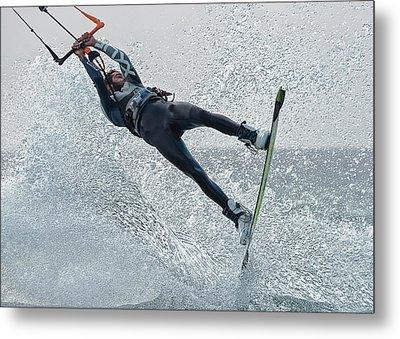 A Man Kitesurfing  Tarifa, Cadiz Metal Print