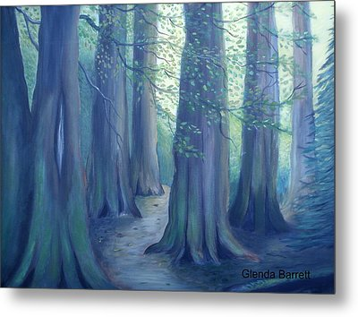 A Morning Stroll Metal Print by Glenda Barrett