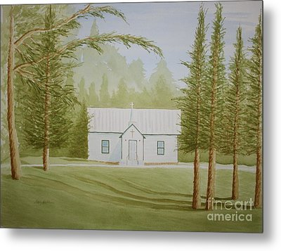 Metal Print featuring the painting A North Carolina Church by Stacy C Bottoms