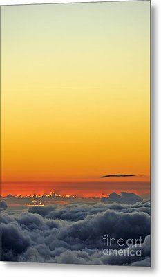 Above Cloudscape At Sunset Metal Print