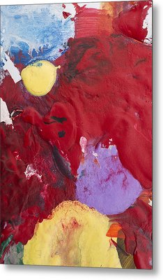 Acrylic Abstract Painting Metal Print by Donald  Erickson