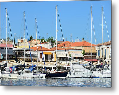 Aegina Port Metal Print