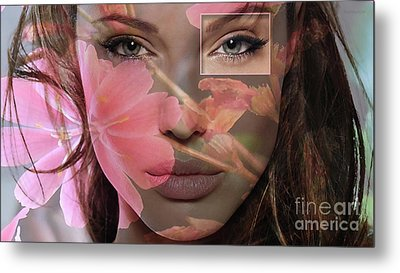 Angelina Jolie Metal Print by Marvin Blaine