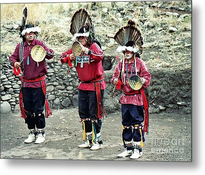 Metal Print featuring the photograph Apache Crown Dancers by Juls Adams