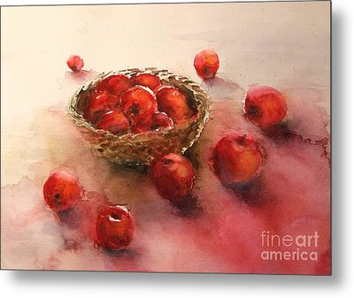 Apples  Apples Metal Print by Yoshiko Mishina