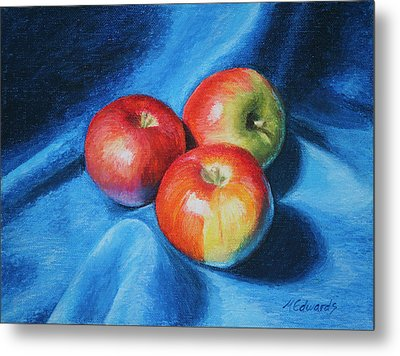 3 Apples Metal Print by Marna Edwards Flavell