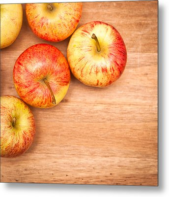 Apples Metal Print by Tom Gowanlock