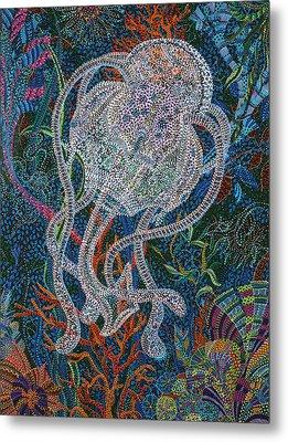 Aquatic Apparition  Metal Print by Erika Pochybova