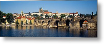 Arch Bridge Across A River, Charles Metal Print by Panoramic Images