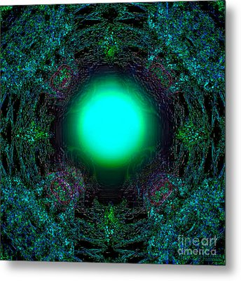 Metal Print featuring the digital art Attraction Of The Light by Hanza Turgul